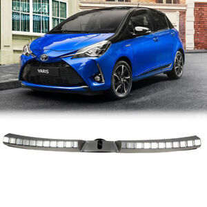 Rear Inner Bumper Protector Guard Sill Plate Cover For Toyota Vitz Yaris 2017 19