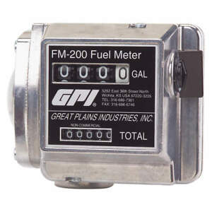 Gpi Flowmeter mechanical 3 4 In 4 To 20 Gpm Fm 200 g6n
