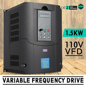 1 5kw 110v Variable Frequency Drive 2hp Vfd Speed New Control Single Phase