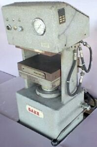 4 Post Lab Press Dake 50 Ton Electric Platen Molding