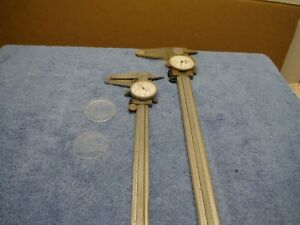 Mitutoyo Dial Caliper 12 And 8 Inch Lot 2