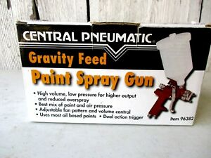 Nib Gravity Feed Paint Spray Gun By Central Pneumatic