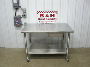 48 Stainless Steel Heavy Duty Work Top Table W Under Shelf Drawer 4 X 30
