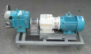 Waukesha Model 130 Stainless Steel Positive Displacement Pump