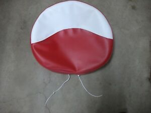 Farmall Tractor Tie Pan Seat Cover red White New Made In Usa 21 W 2 Foam