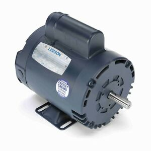 Leeson Electric Motor 110160 00 1 Hp 3450 Rpm 1ph 115 230 Volt 56y Frame
