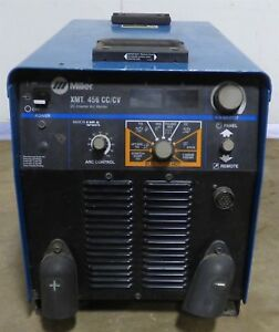 Miller Xmt456 Inverter Welder Multi Process Cc cv Mig Tig Stick Pulse