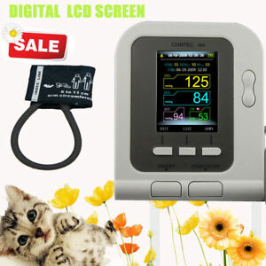 Vet Veterinary Oled Digital Blood Pressure Heart Beat Monitor Nibp Pulse Rate