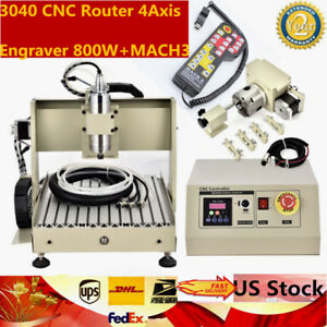 3040 Cnc Router 4 Axis Engraver Engraving Machine Ball Screw 800w mach3