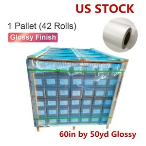 Usa 42 Rolls 60in 50yd Glossy Cold Lamination Film monomeric 3 15 Mil