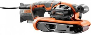RIDGID Belt Sander 3 in. x 18 in. Tool Free Belt On-Board Vacuum Adaptor