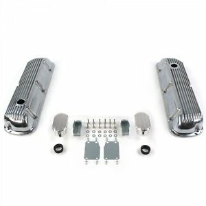 Vintage Finned Valve Covers W Breathers no Pcv small Block Ford 289 351