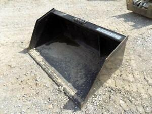 Blue Diamond 50 Mulch Bucket For Walk Behind Skid Steer Loaders Quick Attach