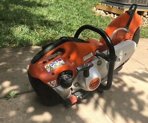 Stihl Ts 420 Gas Concrete re bar Cut off Saw free Shipping Great Condition