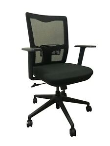 Black Mesh Swivel Office Chair With Wheels