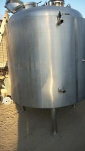 750 Gallon 316l Stainless Steel Jacketed Tank
