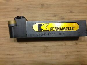 Kennametal Tool Holder Drgnr 206d 1 1 4 Sq Shank 6 oal Rh With Insert New