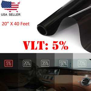 Uncut Window Tint Roll Film 5 Vlt 20 In40ft Car House Office Glass Commercial