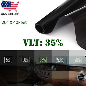 Uncut Window Tint Roll Film 35 Vlt 20 In40ft Car House Office Glass Commercial