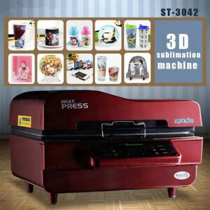 3d Vacuum Heat Press Machine Transfer Sublimation Printer Red Us Fast Shiping My