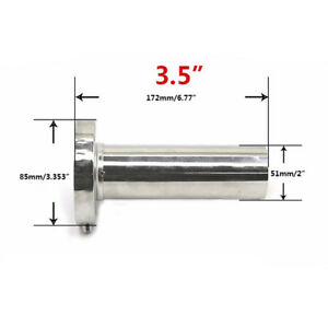 Universal 3 5 85mm Insert Unadjustable Stainless Steel Exhaust Silencer Muffle