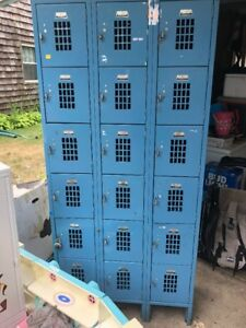 Vintage Lockers From Toys R Us 18 Individual Units Good Used Condition Nice
