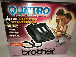 Brother Quattro 4 Line Executive Speakerphone Headset Cts 410 es Loaded New