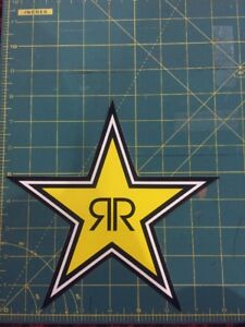 Authentic Rockstar Energy Drink Sticker Decal Sign Logo Moto Racing