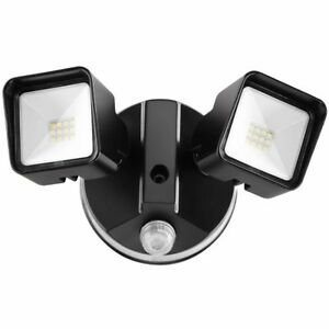 Led Dual Head Security Flood Lights Dusk To Dawn Photocell Waterproof 20w 2000lm