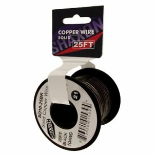 Solid Copper Wire On Spool Black Pvc Outer Jacket 100 Copper For Easy Unwinding