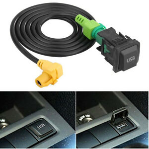 1x Car Aux Usb Switch Cable Fit For Rcd510 Rcd310 Vw Golf Gti R Mk5 Mk6 Jetta Us