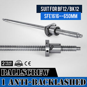Anti Backlash Ballscrew Sfe1616 650mm Bkbf12 Sturdy 25 6inch Anti Backlash