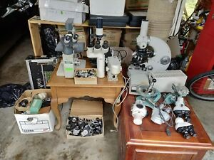Lab Equipment Lot Leica Dmil With Micromanipulator Zeiss Pm Much More