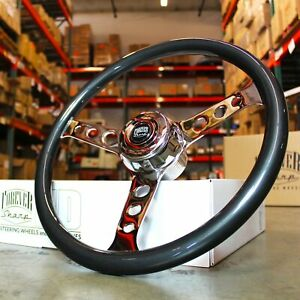 18 Grey Steering Wheel Chrome 3 Spoke