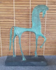 Mid Century Weinberg Etruscan Horse Sculpture Cast Metal Raymor Eames