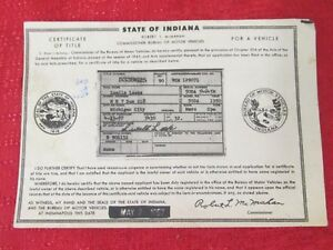 1950 Mercury Cpe Vintage Car Historical Memorabilla Document