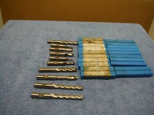 Niagara Cutter End Mills Four Flute Two Flute Single End Nos Lot 10
