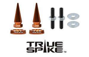 2 True Spike Orange Spiked License Plate Frame Washers Bolts Kit For Toyota