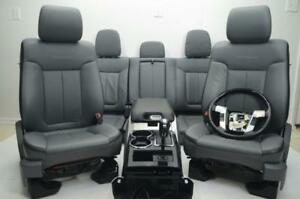 2009 2014 Ford F150 Platinum Front Rear Leather Seats Console Crew Cab
