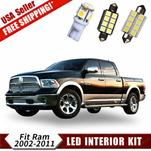 12x White Led Dome Map Interior Lights Package Kit For 02 11 Dodge Ram 1500 2500