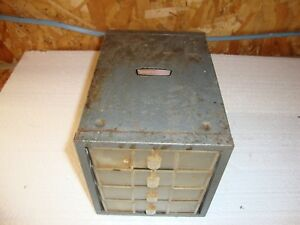 Vintage Craftsman Metal 4 Drawer Small Part Cabinet Storage Organizer Industrial