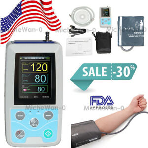Abpm50 Ambulatory Blood Pressure Monitor Nibp Adult Holter spo2 Pulse Oximeter