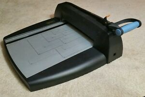Rare Vintage Fiskars Paper Cutter Guillotine Heavy Duty Paper Cutting Tool
