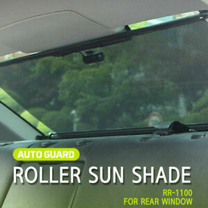Retractable Sun Shade Visor Rear Window Roller Blind For Sedan All Car