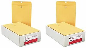 Office Impressions Clasp Envelopes 9 X 12 Brown Kraft 100 Count 2 Pack
