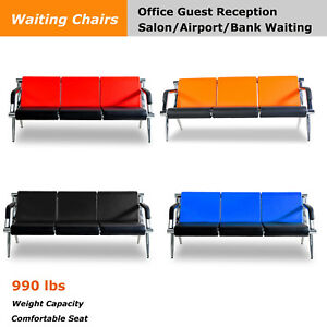 Modern Office Chair Waiting Room Set Airport Reception Pu Leather Guest Sofa