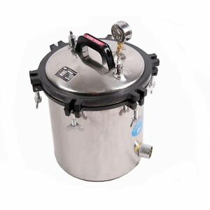 18l Large Capacity Medical Steam Autoclave Sterilizer Tools Stainless Steel Bmg