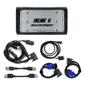 Inline 6 Data Link Adapter Insite Heavy Duty Diagnostic Tool And Main Cables