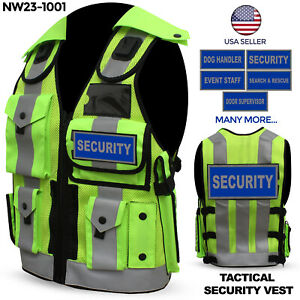 Hi Viz Security Vest Tactical Vest Dog Handler Vest Hi Visibility Security Vest