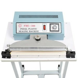 110v 350w 12 Industrial Foot Pedal Impulse Sealer Heat Seal Machine Tool 300mm